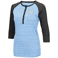Women's Campus Heritage North Carolina Tar Heels 3/4-Sleeve Henley Tee