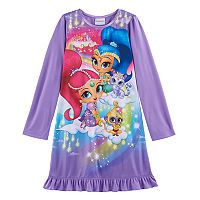 Girls 4-8 Shimmer & Shine Ruffle Hem Nightgown