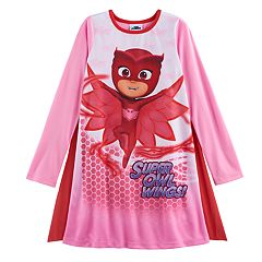 Girls 4-8 PJ Masks Owlette 'Super Owl Wings' Cape Dorm Nightgown