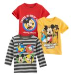 Disney's Mickey Mouse Toddler Boy 3-pc. Mickey Tee Set