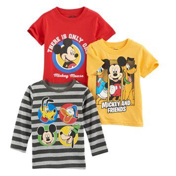 Disney's Mickey Mouse Toddler Boy 3-pc. Mickey Tee Set