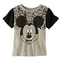 Disney's Mickey Mouse Toddler Boy Contrasting Graphic Tee