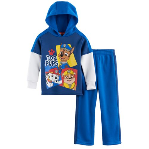 Toddler Boy Paw Patrol Chase, Marshall & Rubble Mock-Layer Hoodie & Jogger Pants Set