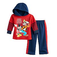 Disney's Mickey Mouse Baby Boy Hoodie & Pants Set