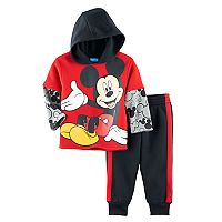 Disney's Mickey Mouse Toddler Boy 2-pc. Mock Layer Hoodie & Pants Set