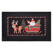 Natco Santa's Showtime LED Light & Sound Doormat - 18'' x 30''