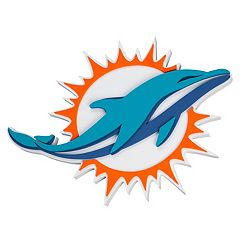 Miami Dolphins 3D Fan Foam Logo Sign