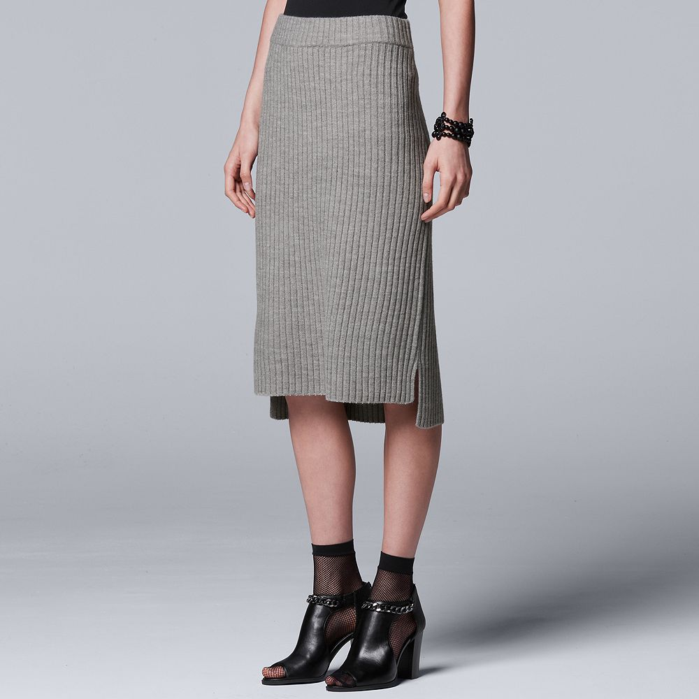 Simply Vera Vera Wang 10th Anniversary Ribbed Sweater Skirt