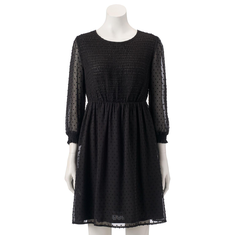 Kohls black polka dot dress