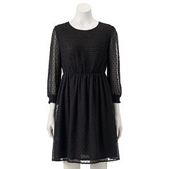 Women's LC Lauren Conrad Swiss Dot Fit & Flare Dress