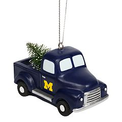 FOCO Michigan Wolverines Truck Christmas Ornament
