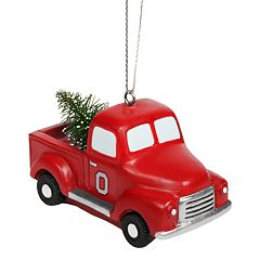 FOCO Ohio State Buckeyes Truck Christmas Ornament