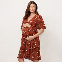 Maternity LC Lauren Conrad Floral Wrap Dress