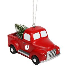 FOCO Wisconsin Badgers Truck Christmas Ornament