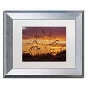 Trademark Fine Art Weeds Silver Finish Framed Wall Art