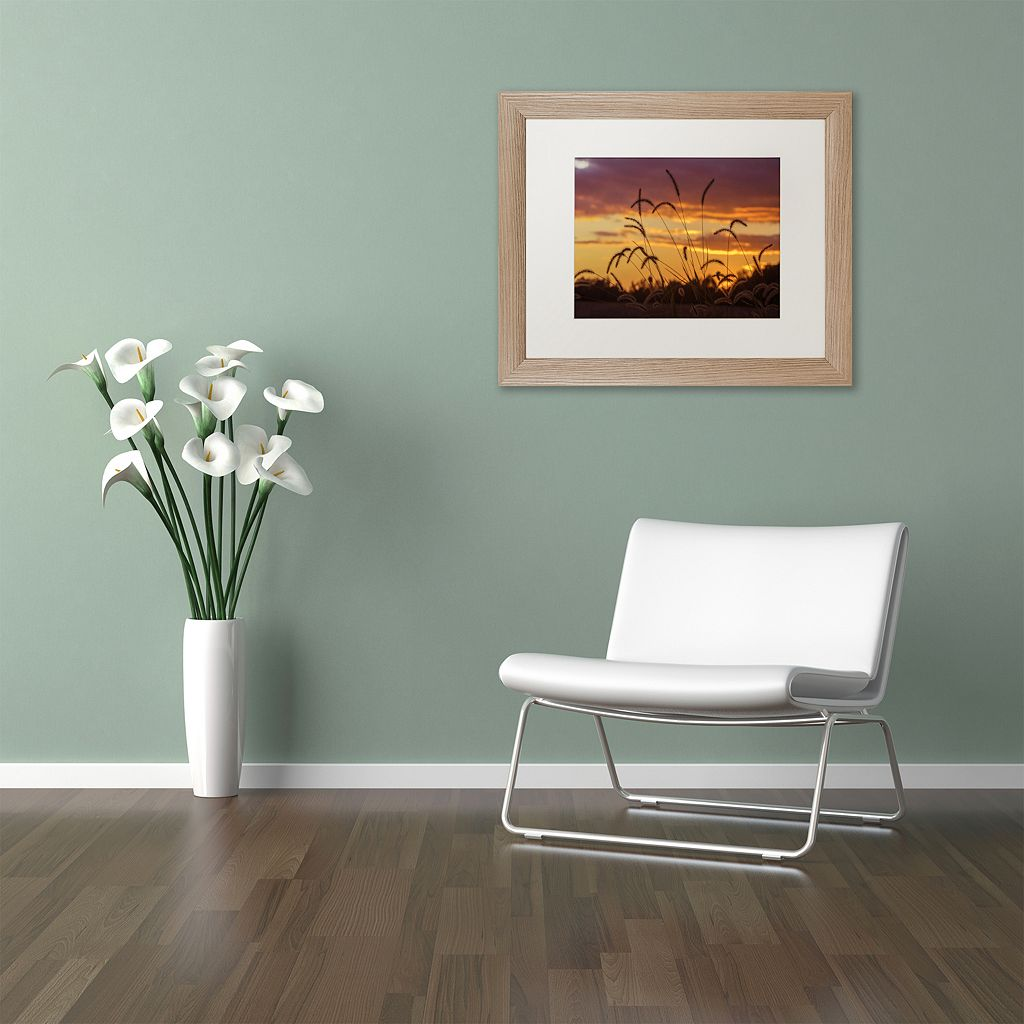 Trademark Fine Art Weeds Distressed Framed Wall Art