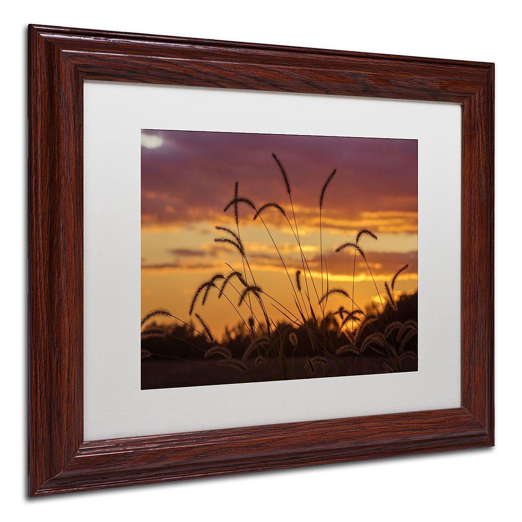 Trademark Fine Art Weeds Framed Wall Art