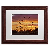 Trademark Fine Art Weeds Framed Wall Art