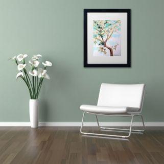Trademark Fine Art Blue Maple Black Framed Wall Art