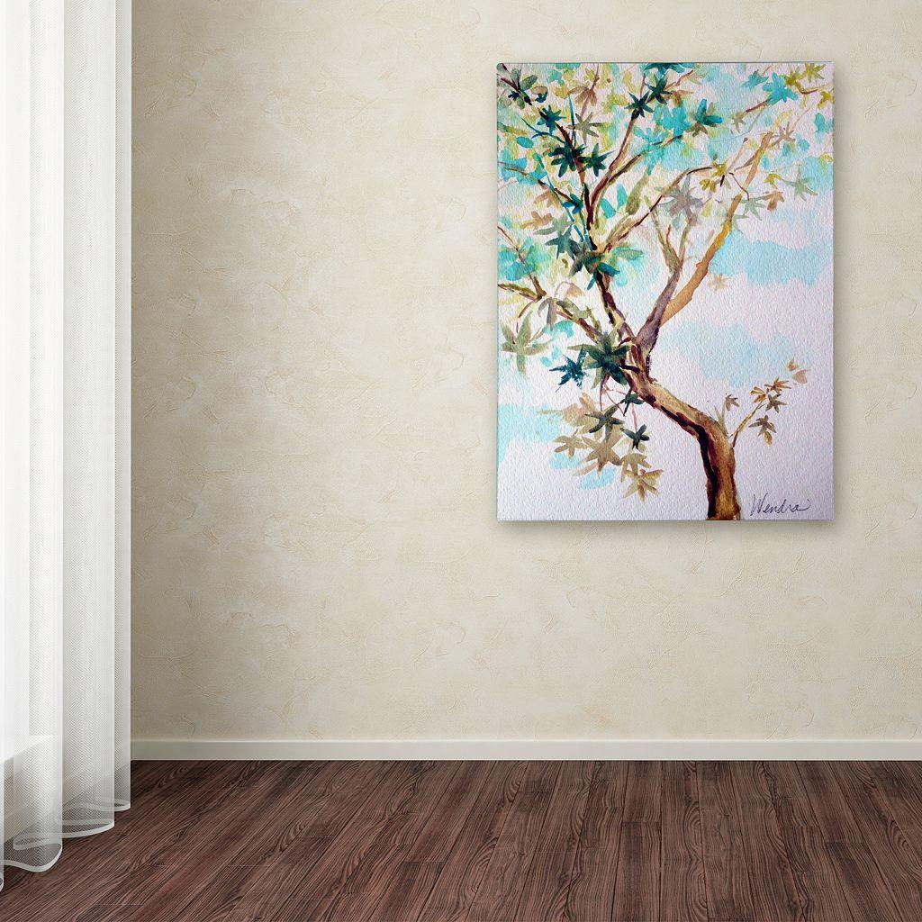 Trademark Fine Art Blue Maple Canvas Wall Art