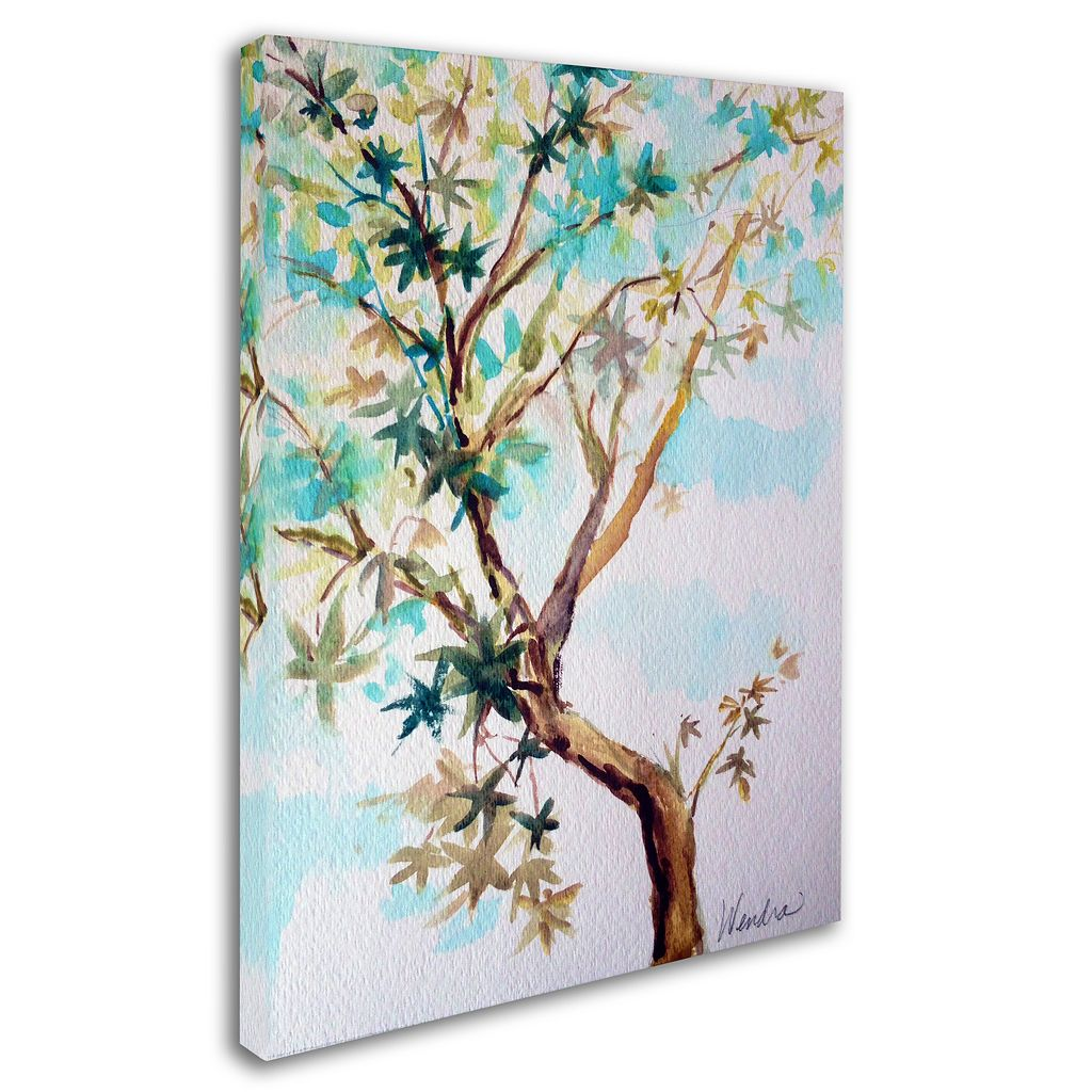 Trademark Fine Art Blue Maple Canvas Wall Art