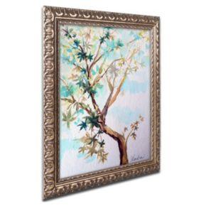 Trademark Fine Art Blue Maple Ornate Framed Wall Art