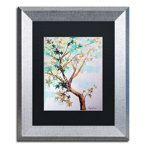 Trademark Fine Art Blue Maple Silver Finish Framed Wall Art