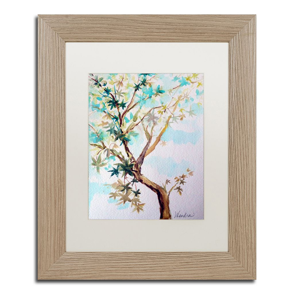 Trademark Fine Art Blue Maple Distressed Framed Wall Art