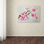 Trademark Fine Art Cherry Blossom Canvas Wall Art