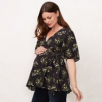 Maternity LC Lauren Conrad Wrap Nursing Top
