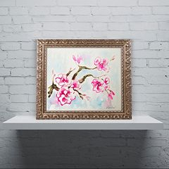 Trademark Fine Art Cherry Blossom Ornate Framed Wall Art