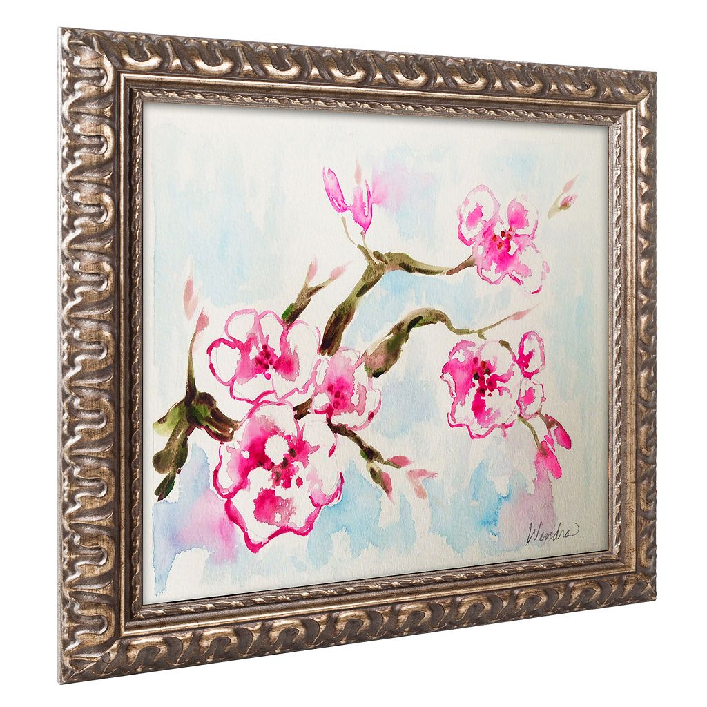 Trademark Fine Art Cherry Blossom Ornate Framed Wall Art