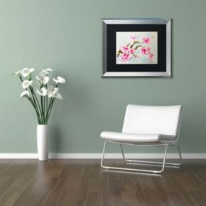 Trademark Fine Art Cherry Blossom Silver Finish Framed Wall Art