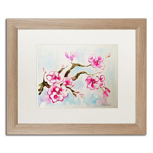 Trademark Fine Art Cherry Blossom Distressed Framed Wall Art