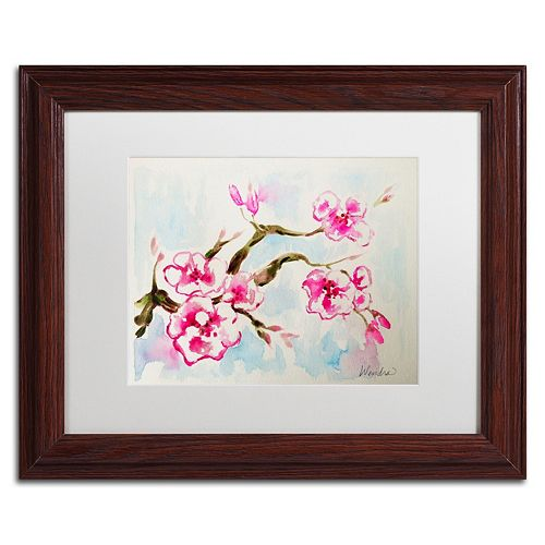 Trademark Fine Art Cherry Blossom Framed Wall Art