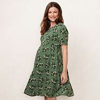 Maternity LC Lauren Conrad Floral Fit & Flare Dress