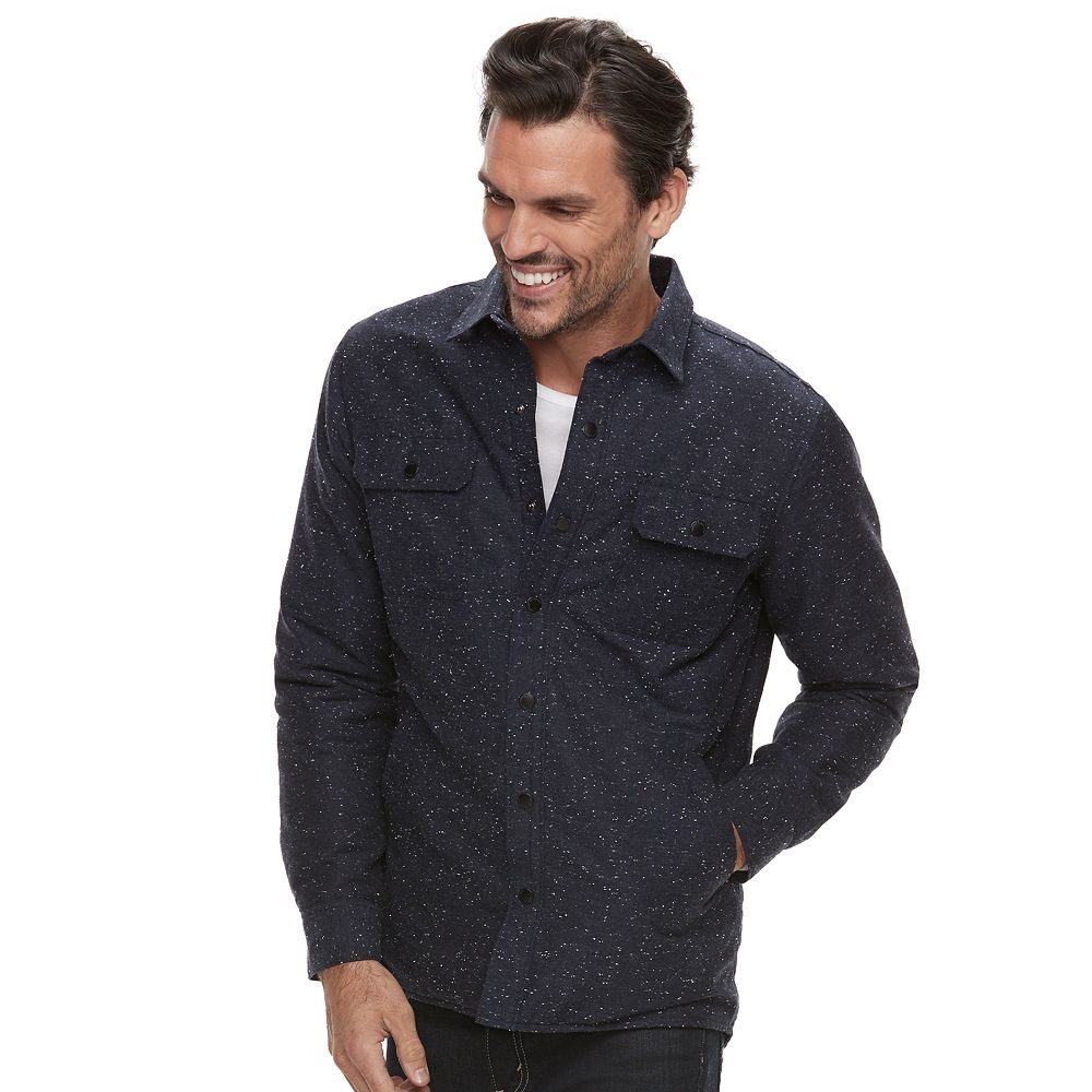 Marc Anthony Slim-Fit Wool-Blend Quilted Shirt Jacket : quilted shirt mens - Adamdwight.com