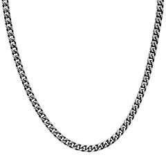Men's Blue Ion Plated Stainless Steel Franco Chain Necklace