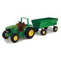 John Deere Tractor & Wagon Set