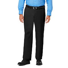 Men's J.M. Haggar Luxury Comfort Premium Flex-Waist Classic-Fit 4-Way Stretch Flat-Front Casual Pants