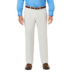 Men's J.M. Haggar Luxury Comfort Classic-Fit 4-Way Stretch Flat-Front Casual Pants