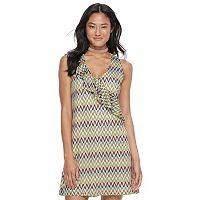 Juniors' Candie's® Chevron Lace Shift Dress