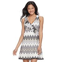 Juniors' Candie's® Chevron Lace Shift Dress