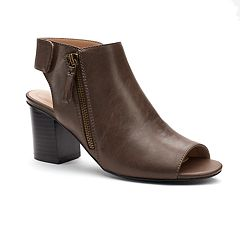 Andrew Geller Selleck Women's Peep Toe Ankle Boots