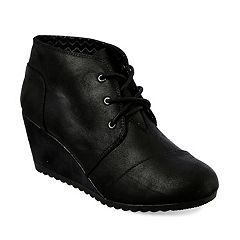 Skechers BOBS High Notes Bell Kick Women's Wedge Ankle Boots