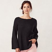 Women's LC Lauren Conrad Ribbed Boatneck Sweater