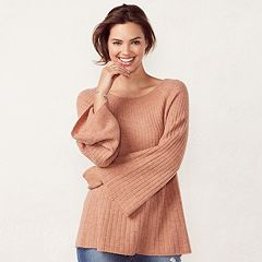 Women's LC Lauren Conrad Ribbed Boatneck Sweater