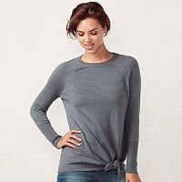 Women's LC Lauren Conrad Knot Crewneck Sweater