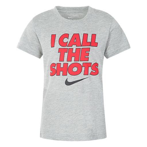 "Boys 4-7 Nike Dri-FIT ""I Call The Shots"" Tee"
