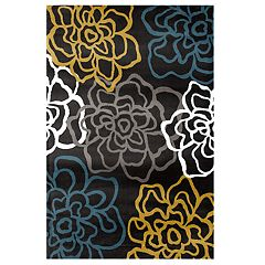 World Rug Gallery Alpine Modern Floral Rug